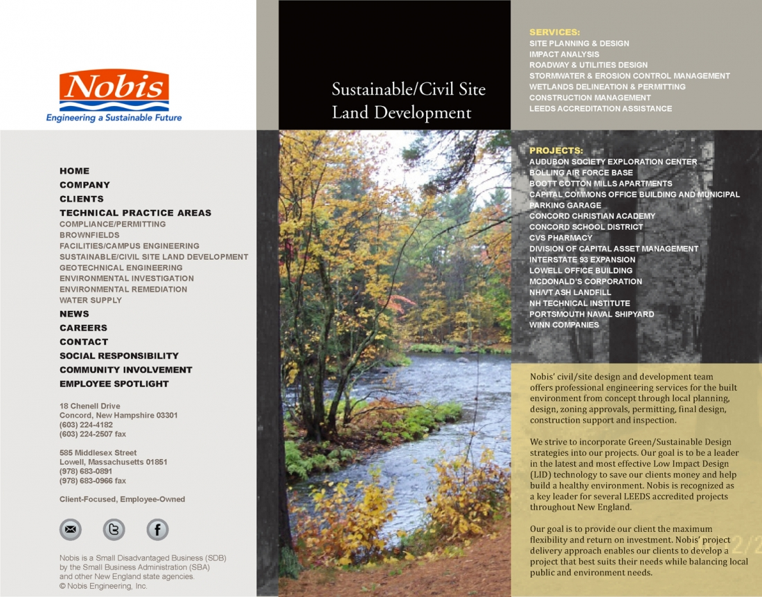 Nobis Engineering, Geotechnical Engineers, Lowell, Massachusetts
